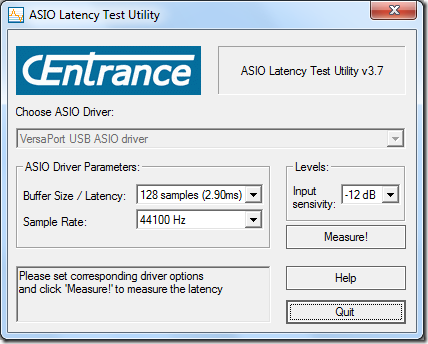 ASIO Latency Test Utility