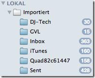 Apple Mail Lokal Importiert