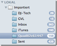 Apple Mail Importiert