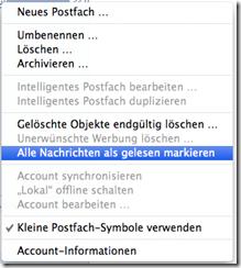 Apple Mail Alle Nachrichten als gelesen markieren