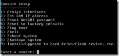 FreeNAS - Console Setup