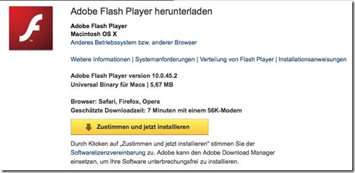 Adobe Flash Player herunterladen