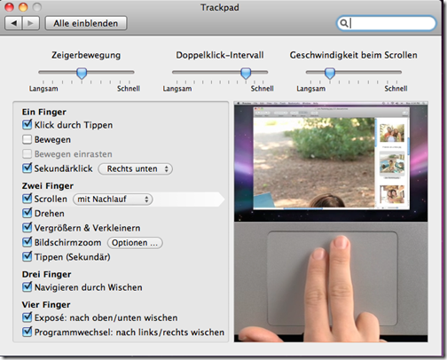 Mac OS X Trackpad
