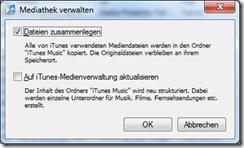 iTunes Mediathek verwalten