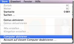 iTunes Computer aktivieren