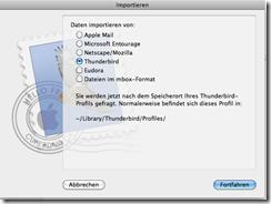 Apple Mail Importieren