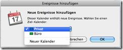Apple iCal Importieren