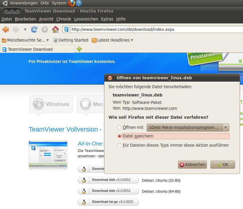 Linux: TeamViewer auf Ubuntu installieren – Andy's Blog