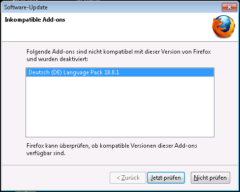 Firefox - Waterfox - Sprach-Add-on