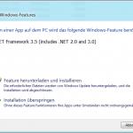 Windows 8: Fehlende Features herunterladen und installieren