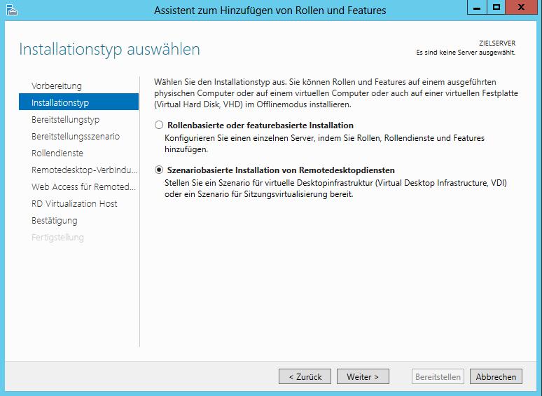 Server 8 szenariobasierte installation von remotedesktopdiensten