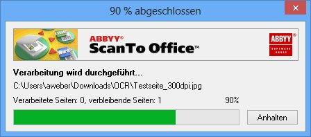 ABBYY ScanTo Office - Verarbeitung