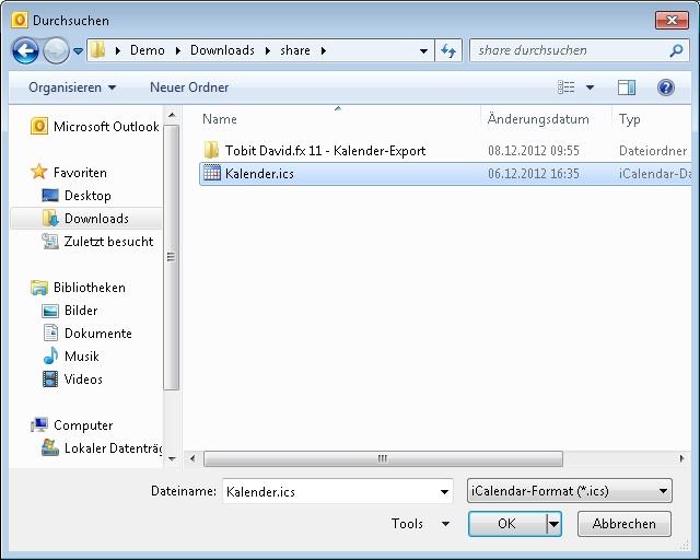 Microsoft Outlook 2010 - Kalender importieren