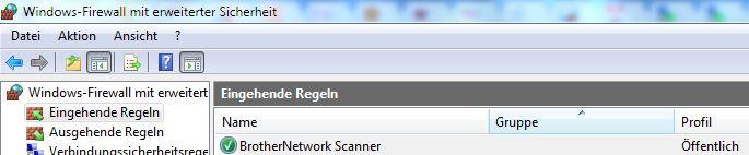 Brother - Windows-Firewall-Regel