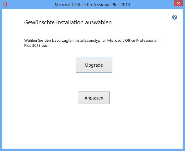 MS Office 2013 (FFP) - Upgrade während der Installation