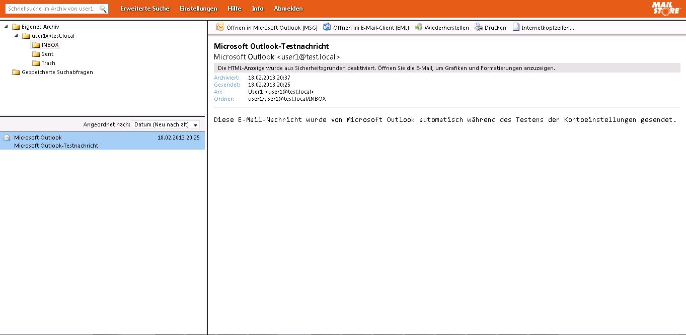 MailStore Server 8.0 - Web Access
