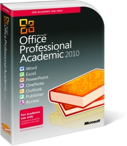 Microsoft Office Professional Academic 2010 - Boxshot