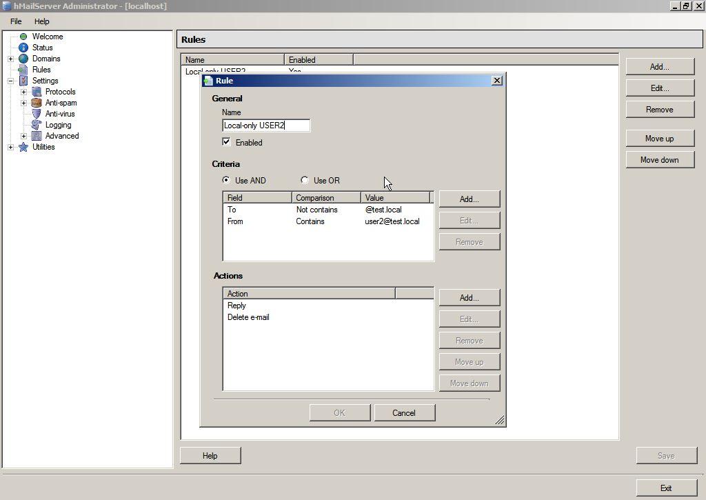 Windows: hMailServer – Bestimmten Benutzern verbieten E