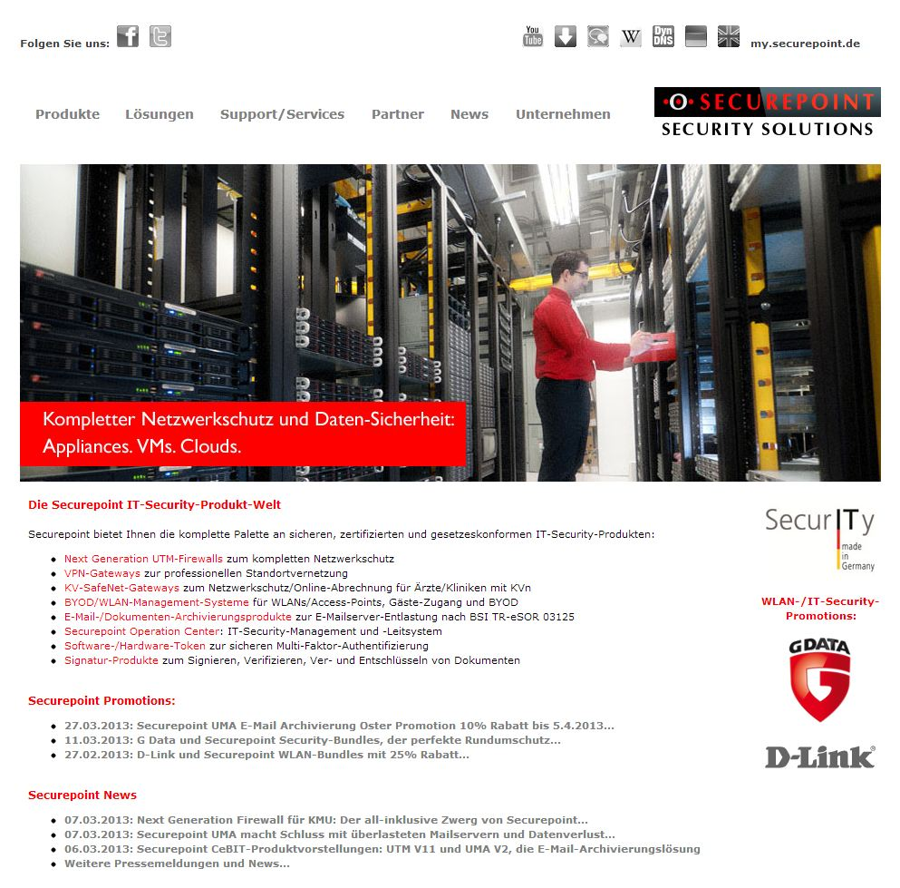 Securepoint-Homepage