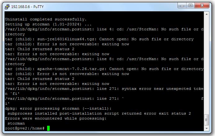 Adaptec maxView Storage Manager-Fehler auf Proxmox VE-Host