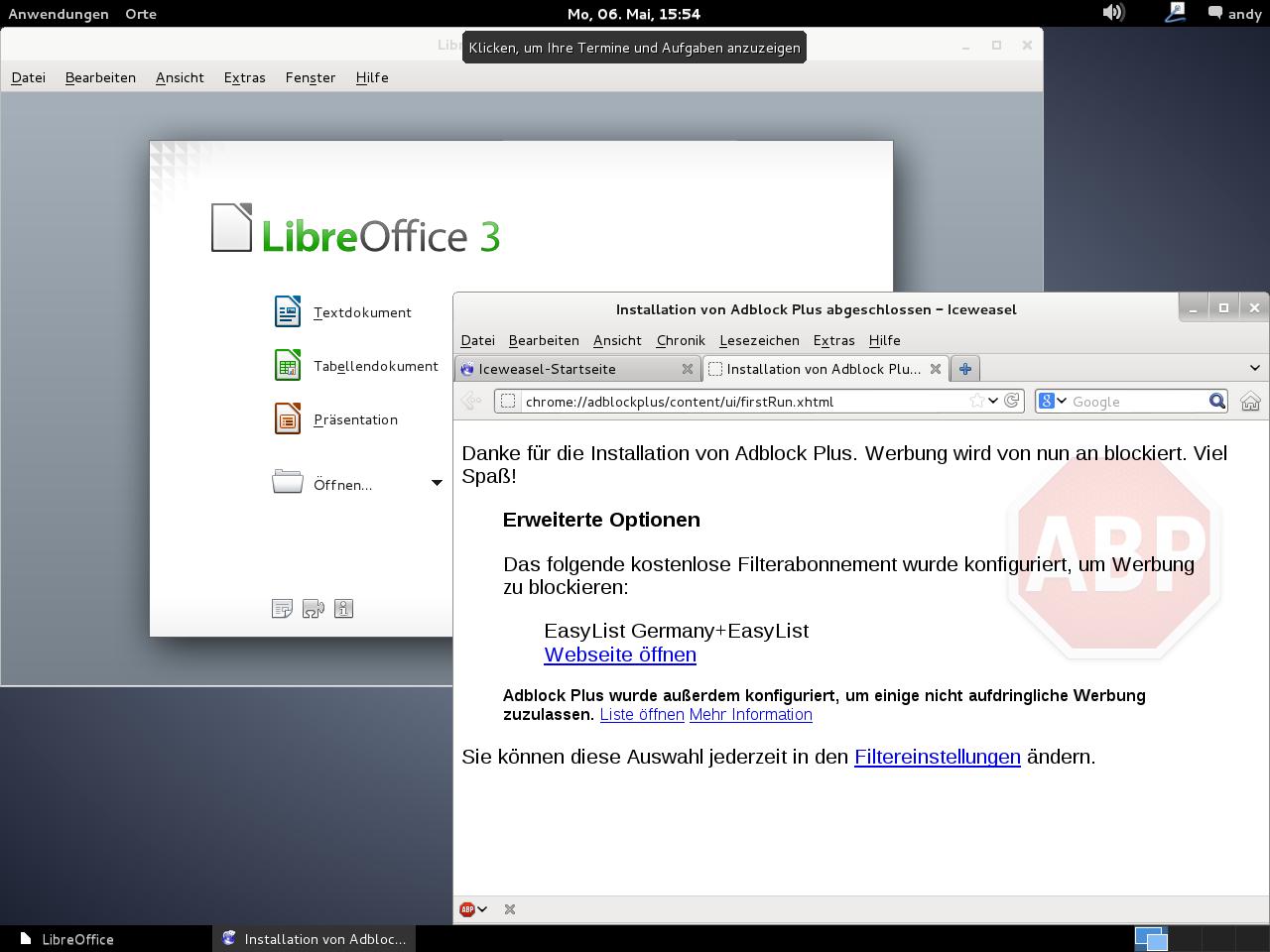Debian Wheezy - Gnome-Desktop mit LibreOffice und IceWeasel
