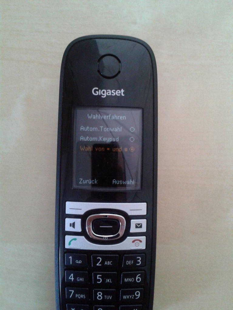 Gigaset C610 Mobilteil - Wahlverfahren konfigurieren