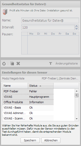 Server-Eye - DATEV Modul Negativliste