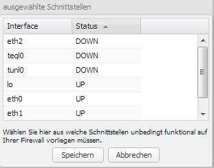 Server-Eye - Securepoint UTM - Schnittstellen-Auswahl