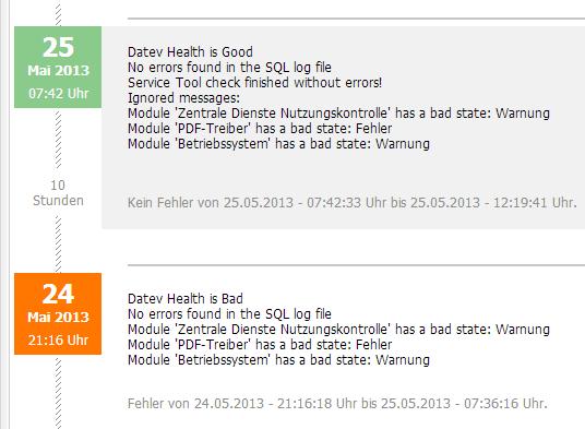 "Server-Eye - Sensor ""Gesundheitsstatus für DATEV"""