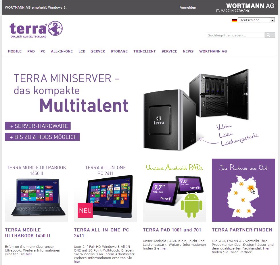 Neue Homepage von Wortmann