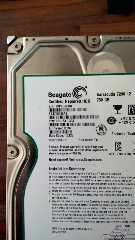 Seagate Certified Repaired HDD