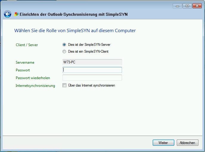 SimpleSYN-Server einrichten