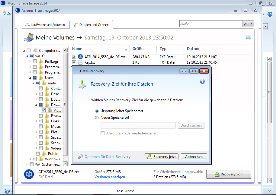 Acronis True Image 2014 - Recovery