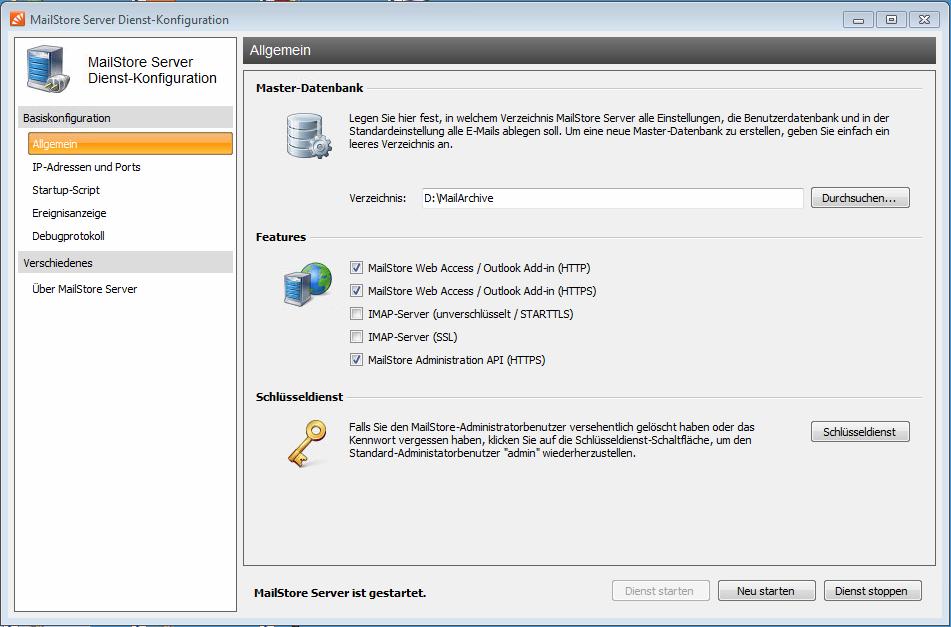 MailStore Administration API