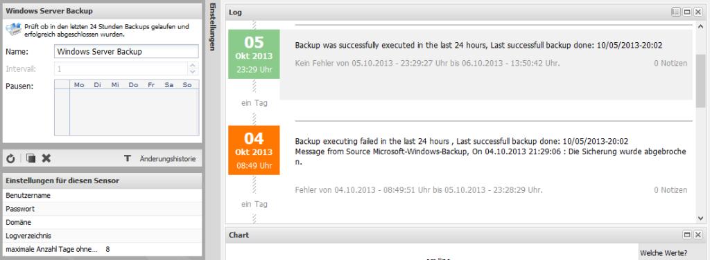 Server-Eye und Windows Server-Sicherung