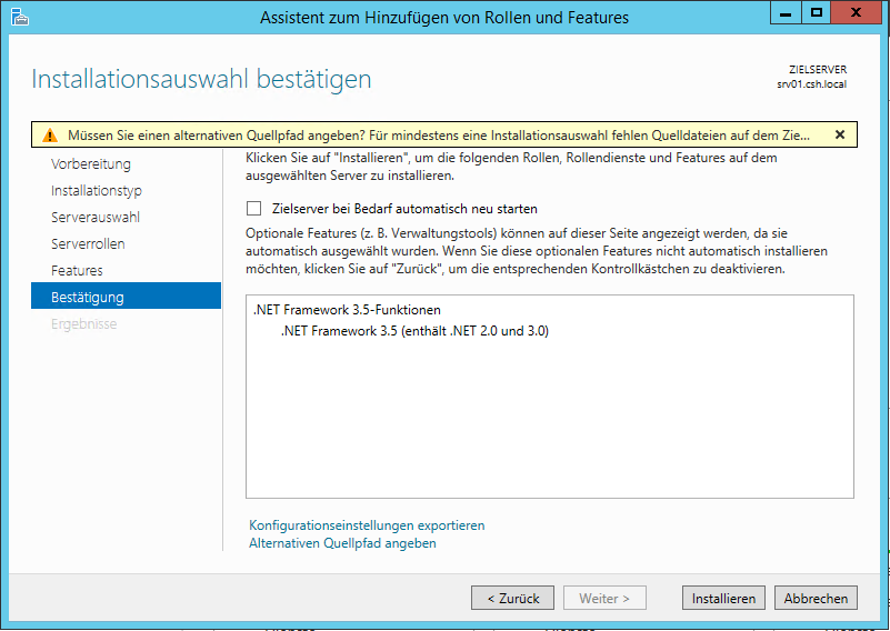 Windows Server 2012 R2 und .NET Framework_3.5