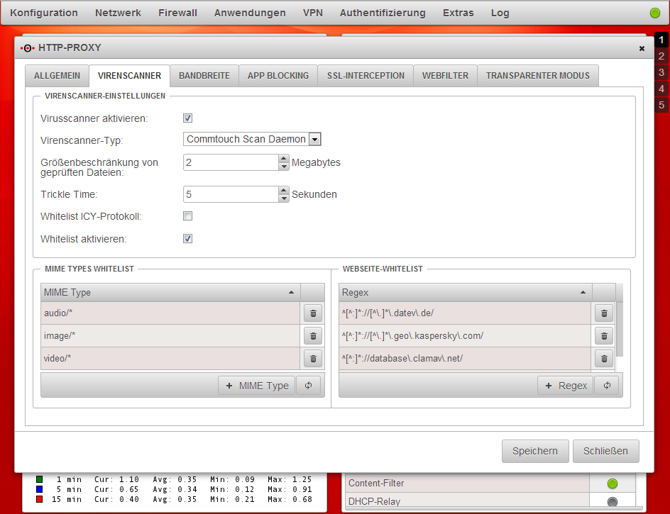 Securepoint UTM - HTTP-Proxy und Commtouch