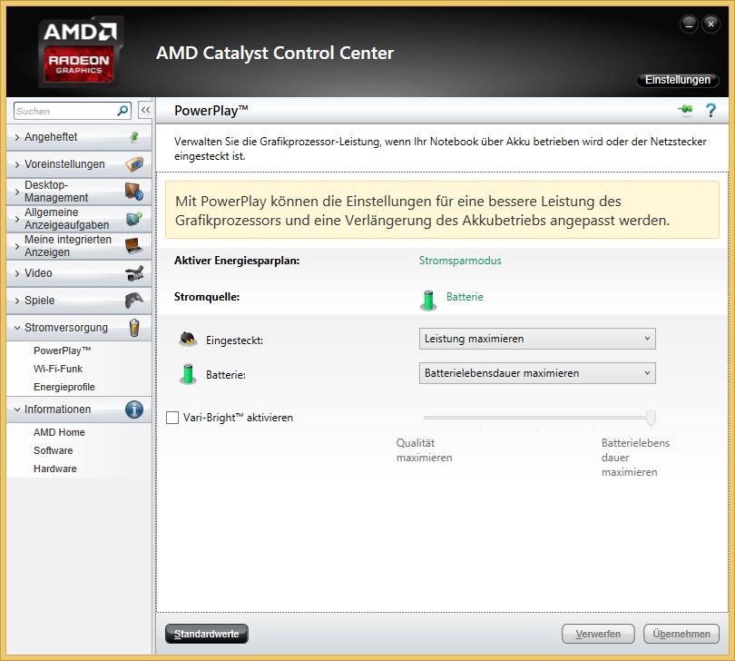 AMD Vari-Bright deaktivieren