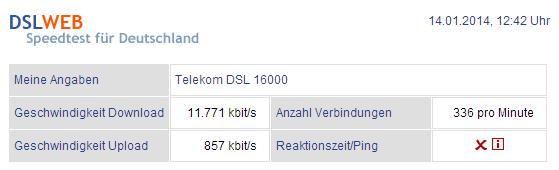 DSLWEB - DSL Speedtest
