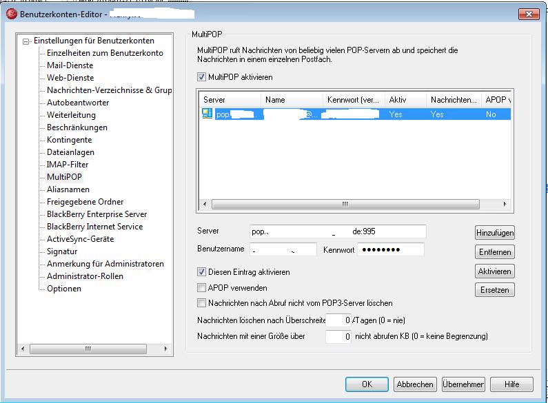 MDaemon: TLS/SSL für MultiPOP
