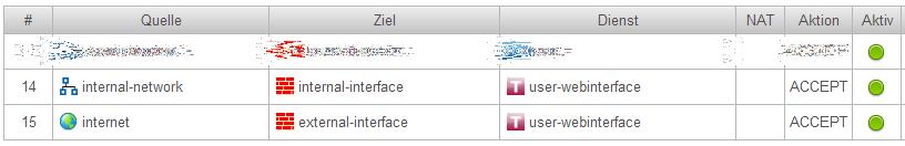 Securepoint UTM - Webserver Ports ändern - Portfilter-Regeln