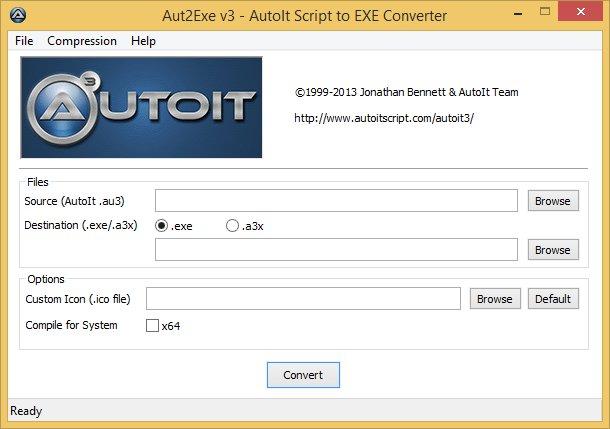 AutoIt 3.3.10.2 - Aut2Exe