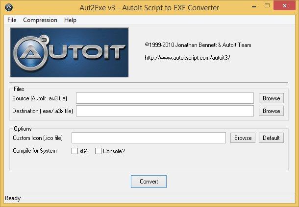 AutoIt 3.3.8.1 - Aut2Exe