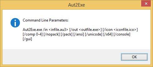 AutoIt 3.3.8.1 - Aut2Exe CLI