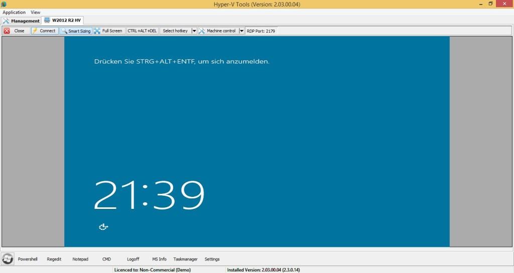 ProHVM - Virtueller Computer in Registerkarte