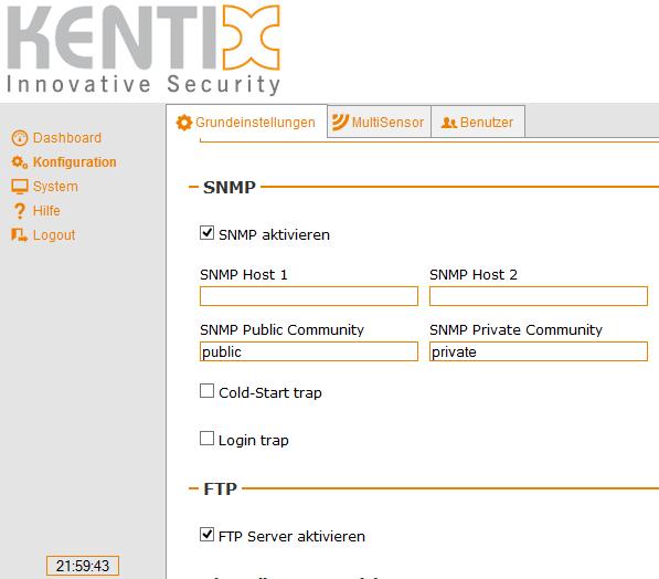 Kentix MultiSensor-LAN - SNMP
