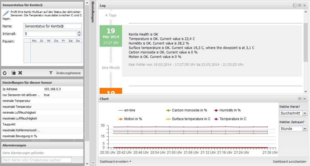 Kentix MultiSensor-LAN und Sever-Eye