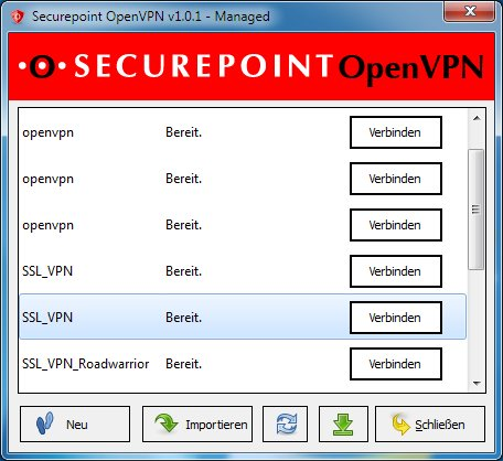 Securepoint SSL-VPN Client 1.0.1 - Nach Update von 1.0