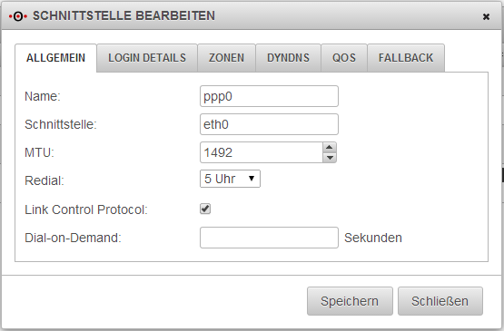 Securepoint UTM - PPPoE/PPP - Redial