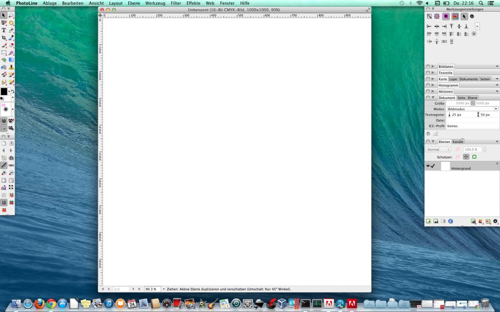 PhotoLine auf dem Mac